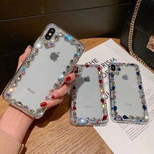 Glitter Bling Diamond Clear Case For Huawei Y6 Pro 2019 P20 Lite Luxury Rhinestone  Transparent Hard Cover