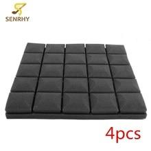 4PCS 500x500x50mm Black Acoustic Foam Treatment Sound Proofing Sound-absorbing Cotton Noise Sponge Drum Room Accessories