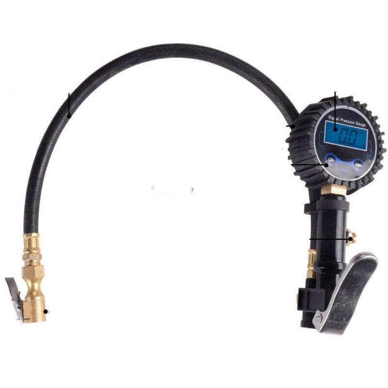 Air Pressure Digital Car Tire Inflator Automatic Air Gun Air Tire Pressure Pressure Gauge LED Meter Tester Pistol for Pump Wheel