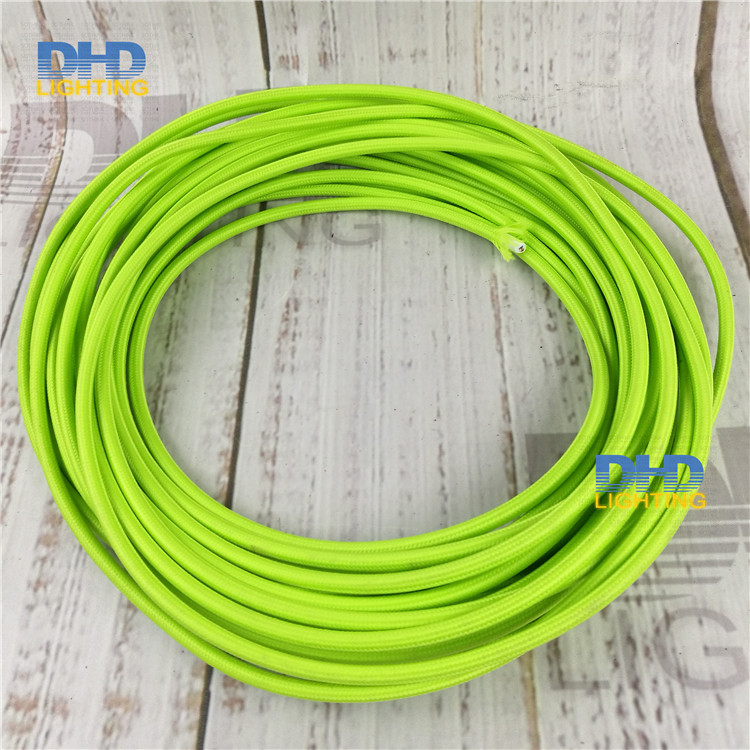 10m/lot SAA greenTextile Wire 2x0.75mm2 fabric cable Colorful ...
