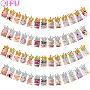 Image 2 - QIFU 1st Birthday Party Decorations Kids Favors First Birthday Banner Flag ONE Year Bunting Garland Baby Shower Decor Boy Girl