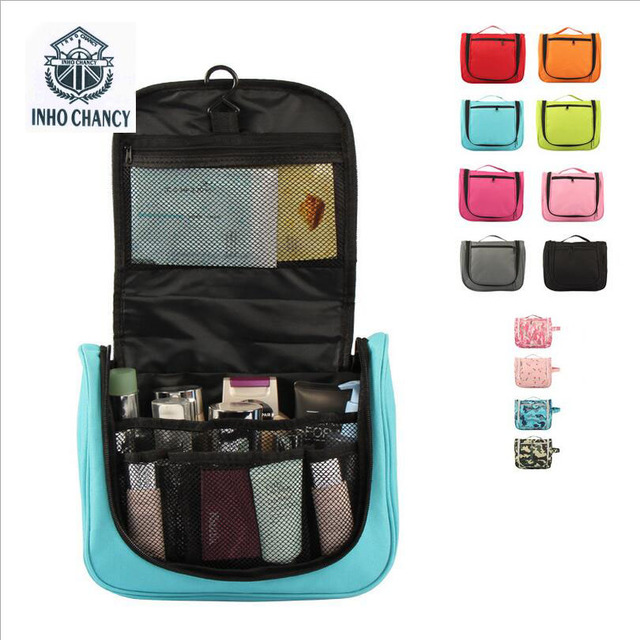 ChancyCosmetic Bag 2017 Storage Beauty packing cubes Portable Travel Cylindrical wash bag With Hook-type Waterproof Folding Make