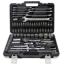 82 шт. Набор комбинированных гаечных ключей для ремонта автомобиля, набор пакетных головок, трещотка, гаечный ключ, отвертка, набор инструментов для автоматической разборки