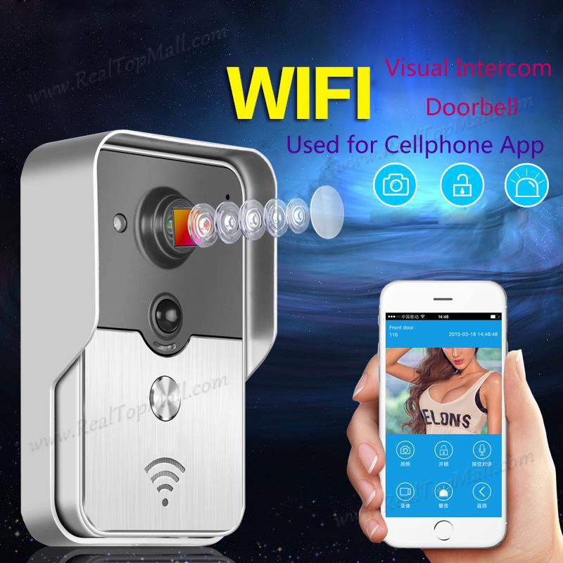 Mobile WiFi Wireless Video Door Phone intercom Doorbell Peephole Camera Night Vision Alarm Smart Home Wireless Visual Intercom d114b smart home 1v2 wireless intercom one to two video door phone 2 4g digital pir detection video door peephole camera
