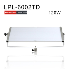 Falcon Eyes Diving Video Light 120W Daylight Panel Light Dimmable 600pcs LED Studio Photo Video Interview Lighting LPL-6002TD samtian video light tl 600s 2sets led video photo studio light kit dimmable 600pcs led panel lamp with tripod for photographic
