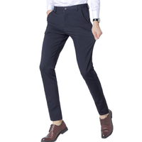 2018 New Fashion Mens Business Formal Suit Pants Four sided Elasticity Slim Fit Quality Male Leisure Suit Pants Trousers