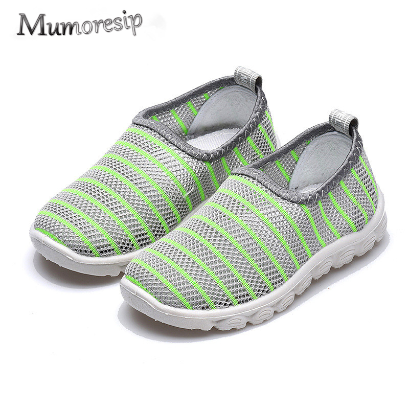 Mumoresip Baby Girl Boy Summer Shoes Air Mesh Soft Breathable Sandals Net Cloth Shoes Beach Shoes Children Boys Girls Cut-outs
