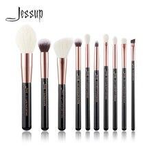 Набор кистей для макияжа jessup black / rose gold Профессиональный