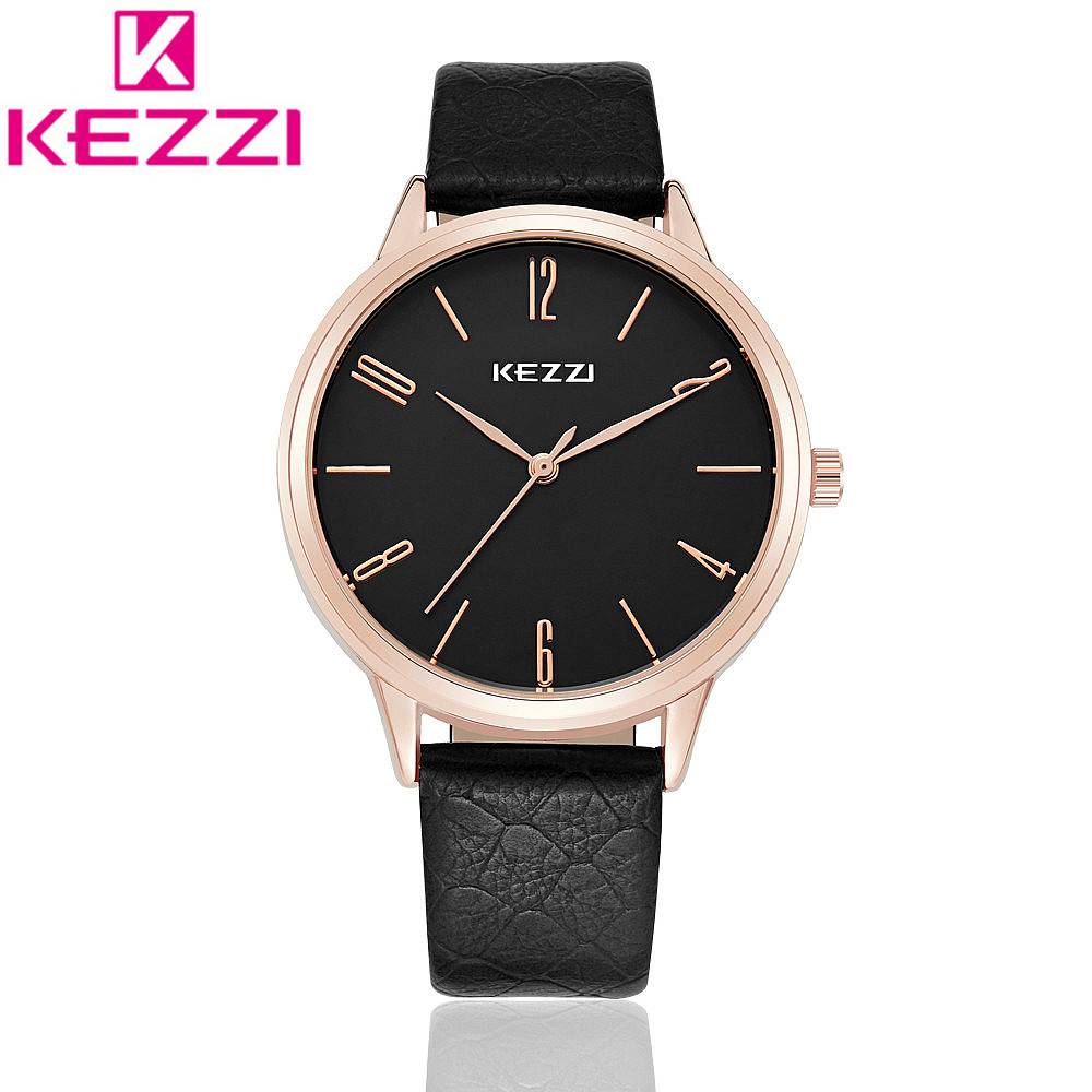 KEZZI K1035 Brand Leather Lady Causal Watch Analog Display Women Wristwatch Fashion Quartz Watch Gift Relogio Feminino KZ71 japan domo kun creative kawaii plush toys domokun film cartoon plush stuffed doll baby infant child toys birthday xmas gift dash