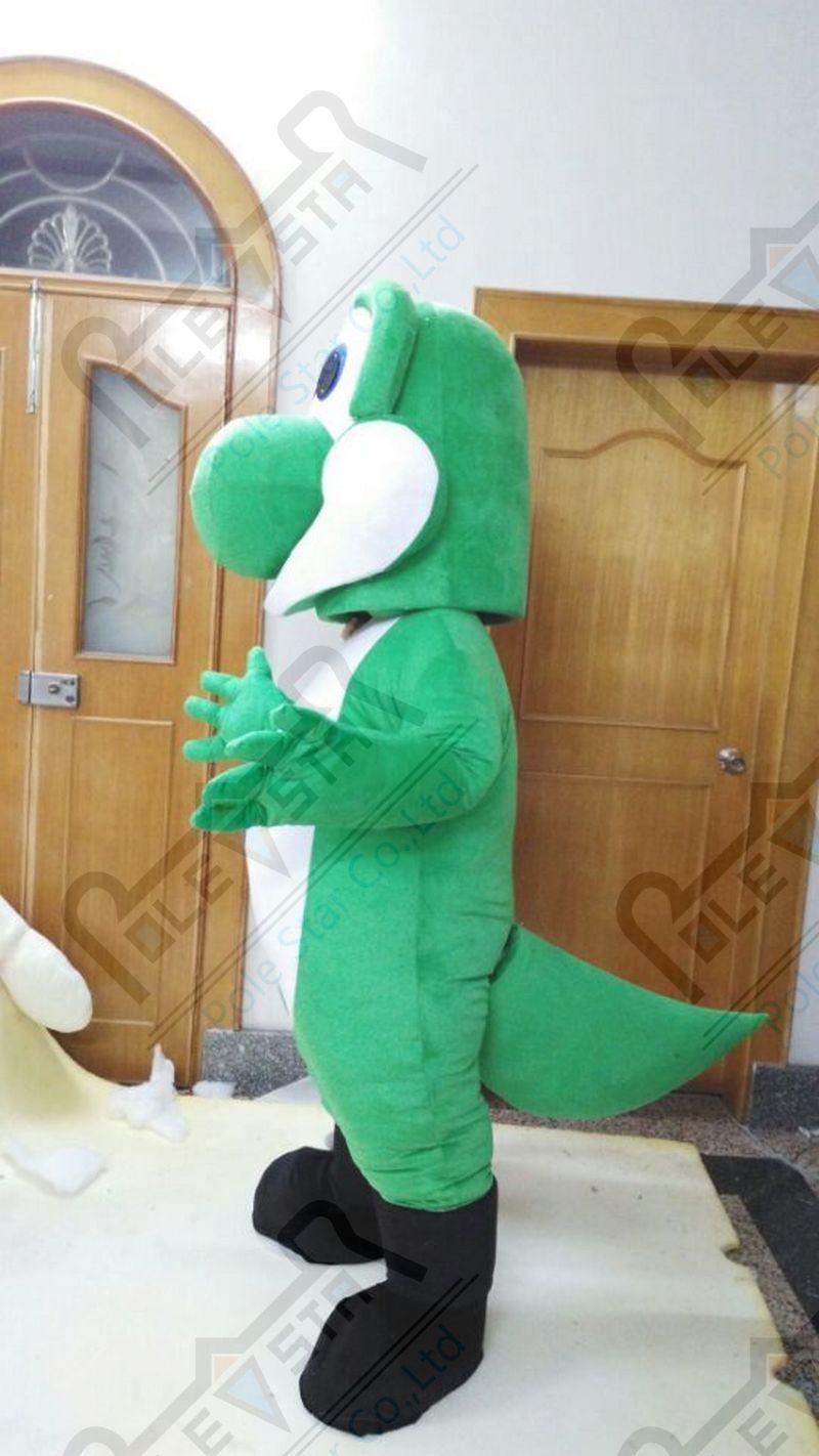 Новый зеленый динозавров костюм талисмана игры динозавр костюмы