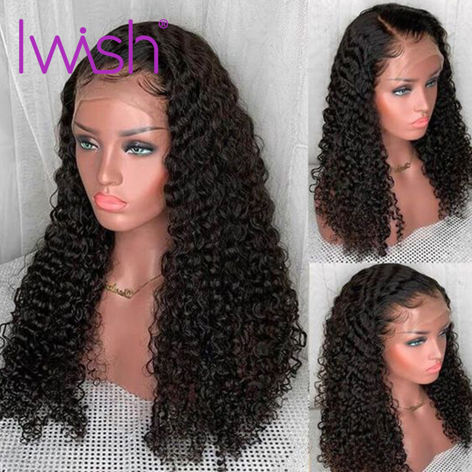 Deep Wave Wig Glueless Lace Front Human Hair Wigs PrePlucked Bleached Knots Wig For Black Women