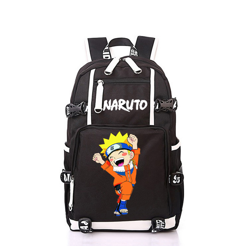 Women Men Anime Naruto Ninja Uzumaki Naruto Backpack Rucksack Mochila Schoolbag Bag For School Boys Girls Student Travel anime cartoon tokyo ghoul cosplay backpack schoolbag one piece gintama school bag rucksack men s women s naruto travel bag