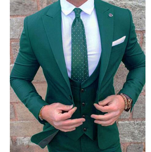 Image 2 - Custom Made Burgundy Costume Homme Terno Groom Tuxedos Groomsmen  Mens Wedding Suits Slim Fit Men Suit ( Jacket Pants Vest)Suits   -