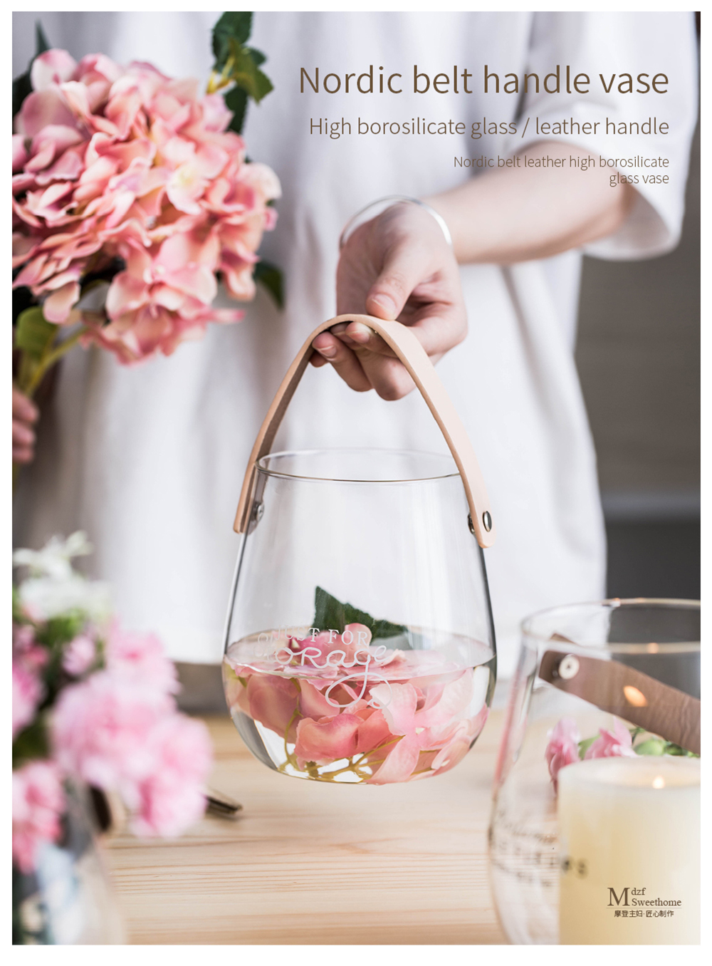 SWEET HOME Flower Glass Vase With Free Shipping