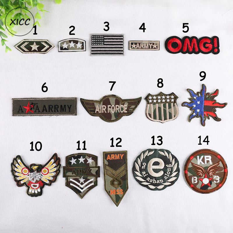 Shirts Honest Xicc Cool Nato Wind Computer Embroidery Patches Camouflage Colour Army Badge Military Iron On Patch For Clothes Decorations