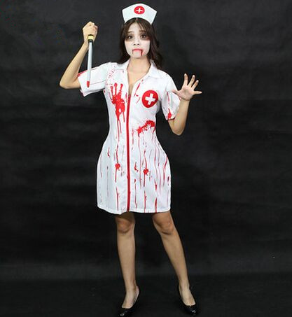 halloween zombie costumes for women scary halloween costumes for women blood nurse costumes horrible nurse cosplay clothing