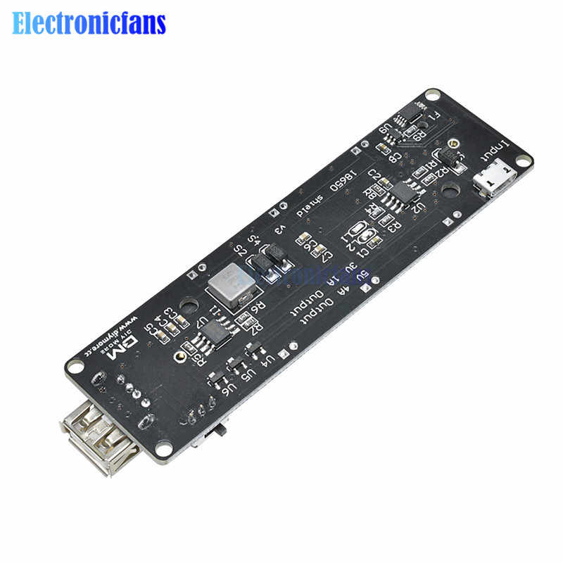 ESP32 ESP32S For Wemos For Arduino Charge For Raspberry Pi 18650 Battery Charge Shield Board V3 Micro USB Port Type-A USB 0.5A