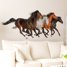[SHIJUEHEZI] Horses Wall Sticker Vinyl DIY Animal Home Decor Sticker for Living Room Bedroom Restaurant Office Decoration