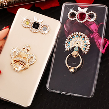 For Samsung Galaxy J7 2017 J5 J3 Pro Ultra Thin Cases Crystal Clear TPU Ring Stand Holder Phone Cover A5 2018 A6 A7 A8 J4 J6 J8
