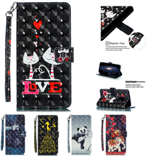 For Samsung Galaxy S9 Case Samsung S9 Plus Case PU Leather Wallet Flip Cover Phone Samsung Galaxy S8 Plus S 9 S9+ painted Coque