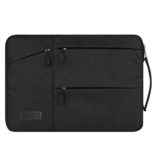 Black Wiwu Multi Pockets Sleeve For Laptop And MacBook Air & Pro  3
