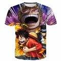 Классический One Piece Аниме футболки Мужчины Женщины Hipster 3D т рубашка Луффи и Сабо Печатает футболки Летом Хабар Harajuku футболку тройники