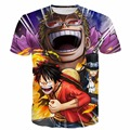 Classic One Piece Anime t shirts Men Women Hipster 3D t shirt Luffy and Sabo Prints tshirts Summer Swag Harajuku tee shirt tees