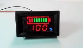 Cyfrowy wskaźnik LED Tester pojemności akumulatora + woltomierz dc 12V 24v 36 48V samochód kwasowo-ołowiowy Lifepo4 litowo-jonowy 1s 2s 3s 4s 7s tanie i dobre opinie DYKBmetered ELECTRICAL Indicator Battery