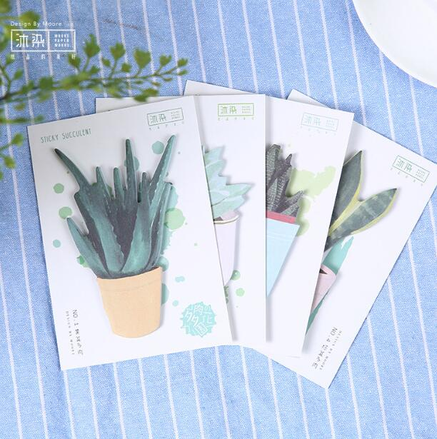 Succulent Garden Plant Self-Adhesive N Times Memo Pad Sticky Mini Notes Bookmark School Office Supply