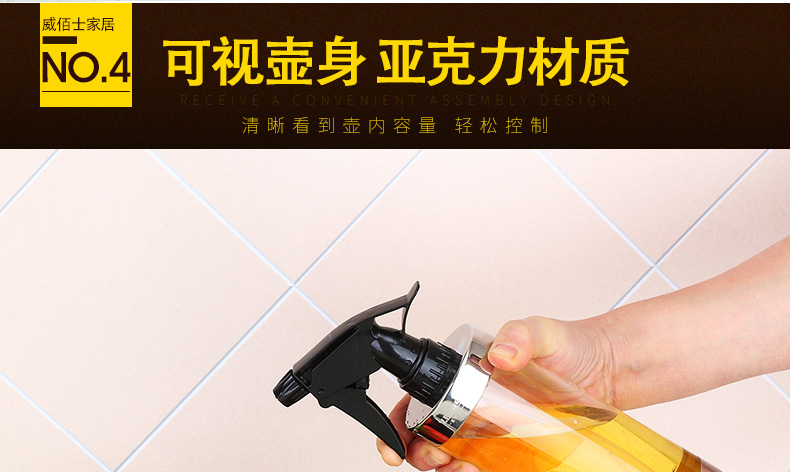 Rvs spray fles keuken olie pot spuiten water barbecue olijfolie huishoudelijke spray koken olie WF817525
