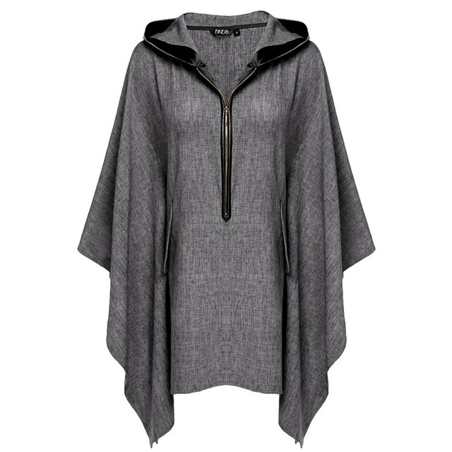 Casual Batwing Sleeve Loose Women Trench Coat Plus Size Hooded Coat Women Spring Autumn Thin Coat Casaco Feminino Ukraine