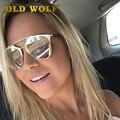 2017 Rosa de Ouro Estilo Designer de Óculos De Sol Das Mulheres Marca Real Refletida cat eye óculos de sol óculos de armação de metal do vintage para as mulheres ou homens