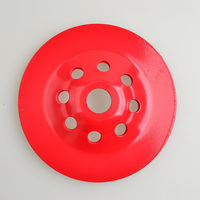 Red Diamond Grinding Disc Grinding Wheel 150*22.23*5mm Hole Turbo Tooth Used In Most Angle Grinders