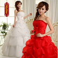 Supper cheapest 2017 vintage tube top wedding dress plus size bandage princess wedding dress