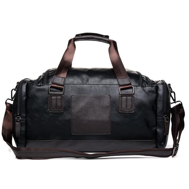 MAGIC UNION New Men's Leather Travel Bags Handbags for Men Shoulder Bags Large-Capacity Big Bag Travel Tote for Business Trip 2