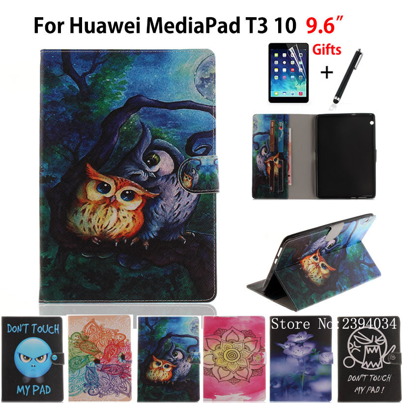 Fashion Painted Case For Huawei MediaPad T3 10 AGS-W09 AGS-L09 AGS-L03 9 6