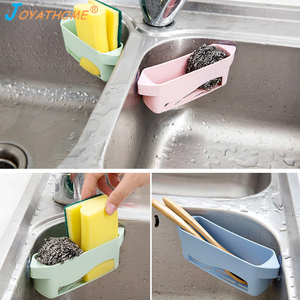 Image 5 - Joyathome creativo cocina esponja drenaje Rack tipo ventosa cepillo de hueco fregadero estante organizador para fregadero desagüe