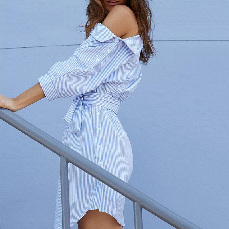 clothes women dress new ladies female autumn striped casual elegant classicsexy street popular womenshot dresses in Dresses from Women 39 s Clothing
