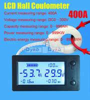 DC 300V 50A 100A 200A 400A Battery Monitor digital Volt meter Ammeter Battery Capacity coulometer Power watt-hour + Hall sensor