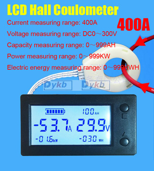 DC 5-120V Current Voltage Meter Voltage Current Display Range ±100A//±50//±400A