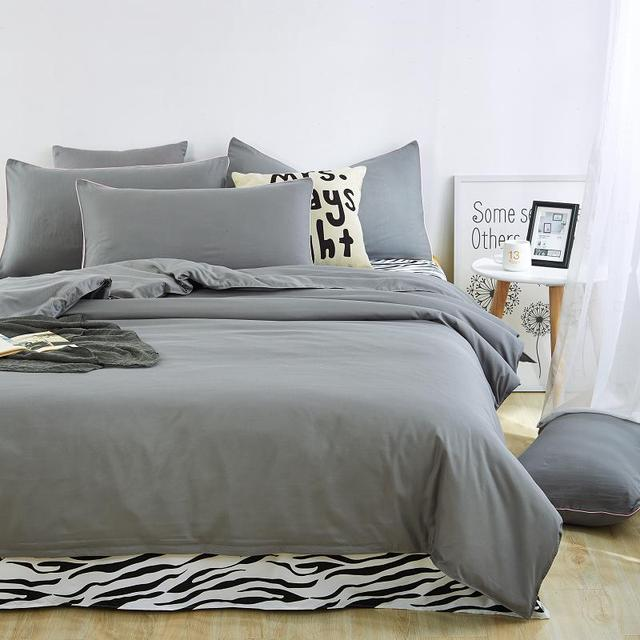 Made In China Super Soft Bed Sheet Grey Printed Quilt Covers Breathable  Adult Comforter Set Children