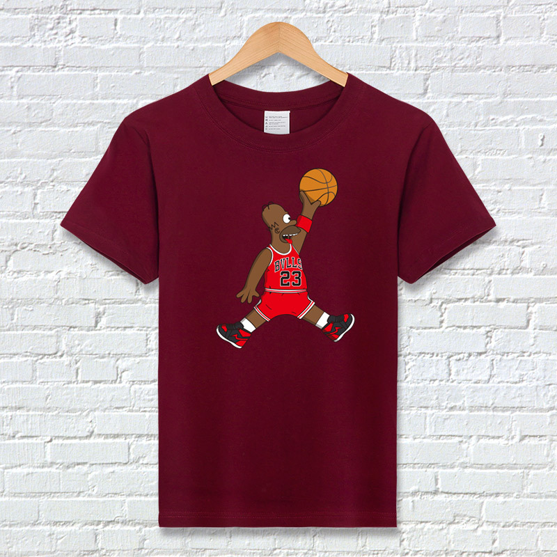a775f08796b8 T-shirt fashion tops 23 Homer Michael Jordan T-shirt streetwear- Unisex 6