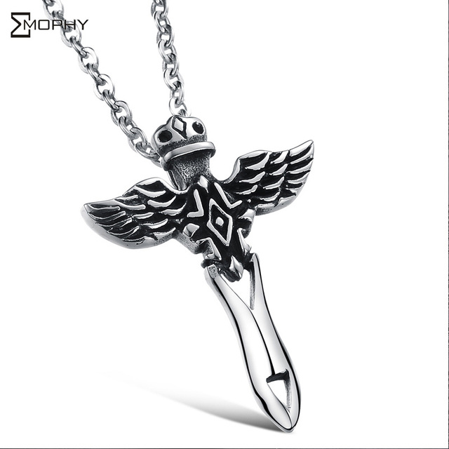 Sword of the archangel necklace 316l stainless steel jewelry 2015 sword of the archangel necklace 316l stainless steel jewelry 2015 new fashion punk style necklaces aloadofball Images