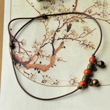Ethnic Ceramic Beads Women's Anklet