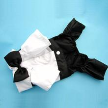 Small Puppy Cat Dog Jumpsuit Gentlemen Tuxedo Bow Tie Suit Apparel