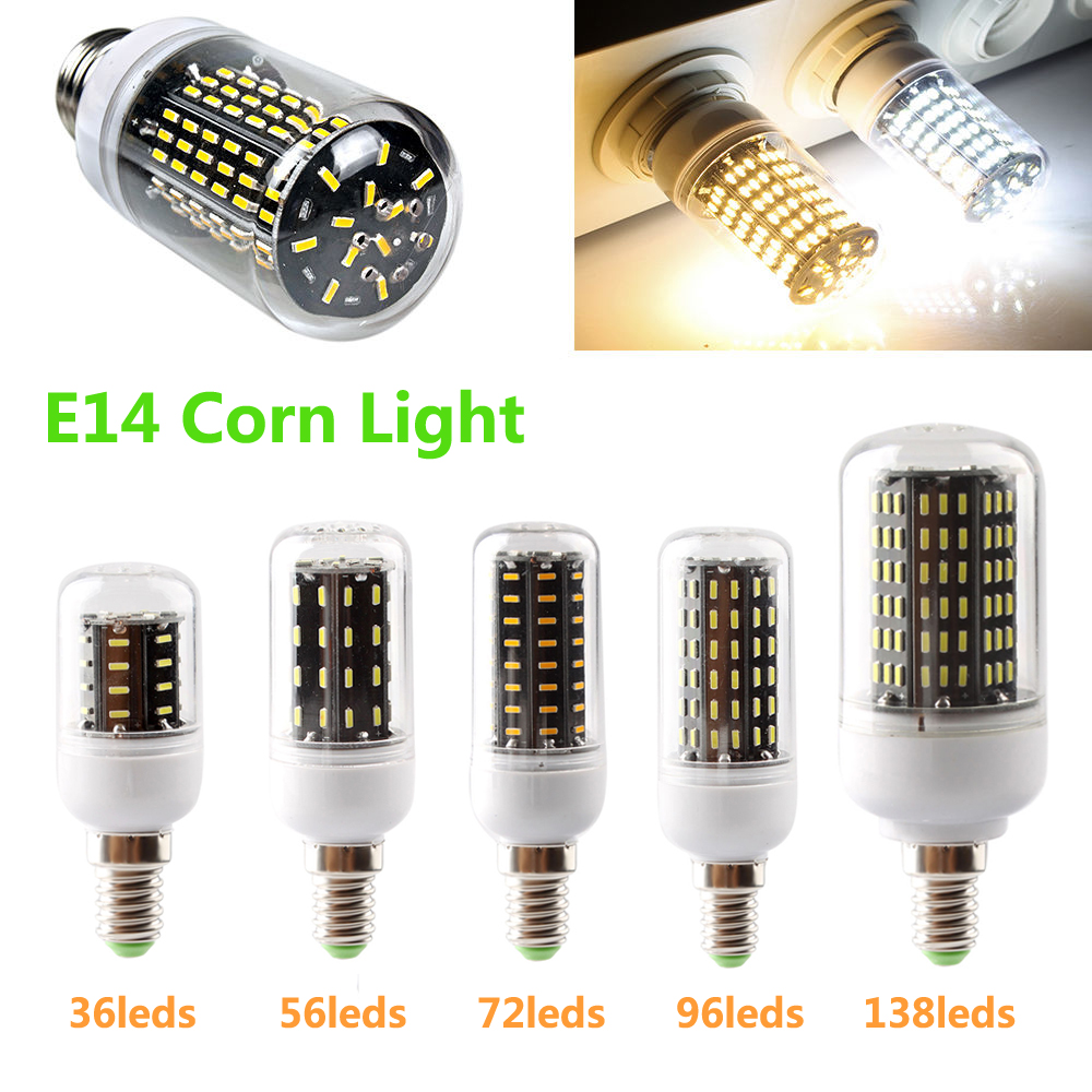Led bulb e14 smd 4014 lamparas led light 36 56 72 96 for Lampada led e14