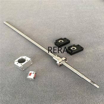 1pcs SFU2505 Ball screw L550mm Ballscrews End Machined + 1pcs ballnut + BK/BF17 (Ballscrew SFU2505 whole sell )