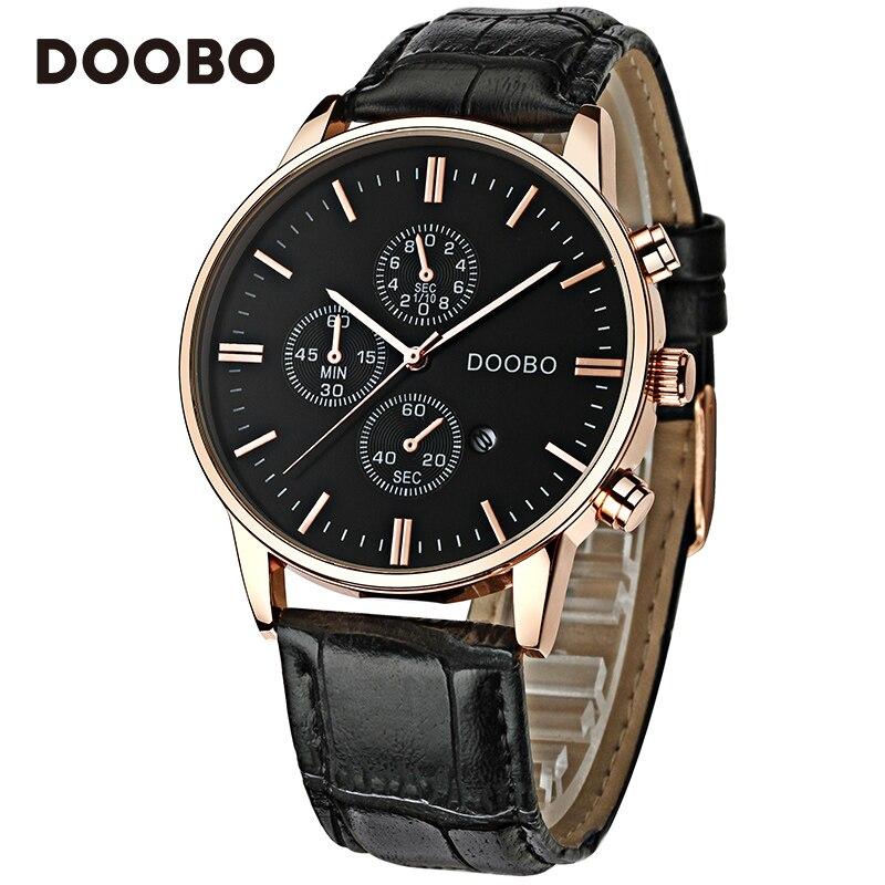 Topmerk Luxe Quartz Horloge Heren Business Casual Lederen Band - Herenhorloges - Foto 5