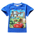 2017 Hot Children Summer Cotton T-shirts Clothing Kids Boys Short Sleeve Cartoon Cars Tees For 2-7Y Child Baby Tops Clothes 8044