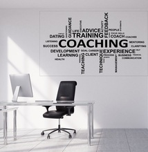 Lagre 비닐 데칼 단어 구름 코칭 생활 조언 훈련 사무실 벽 장식 2bg11